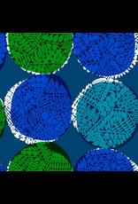 Cotton + Steel Rayon, Safari, Nest in Sapphire, Fabric Half-Yards MS102-SA4R