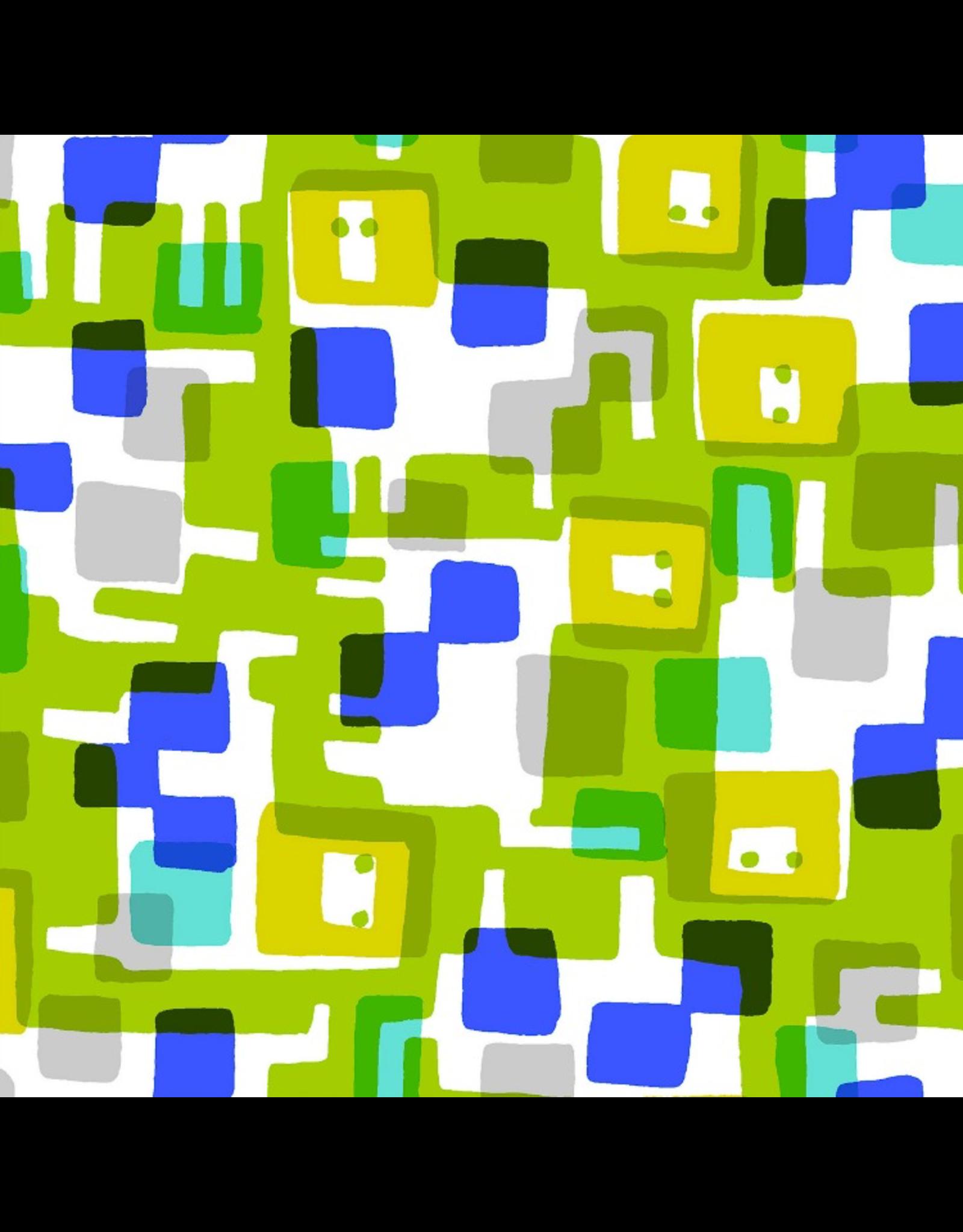 Cotton + Steel Safari, Roar in Lime, Fabric Half-Yards MS101-LI1