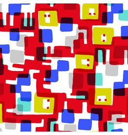 Cotton + Steel Safari, Roar in Red, Fabric Half-Yards MS101-RE2