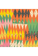"Heather Ross Trixie, Trixie Collage in Green, Fabric Half-Yards 50896 (ONE 23"" CUT REMAINING)"