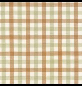 Carolyn Friedlander ON SALE-Harriot Yarn Dyed Woven, Double Check in Limestone, Fabric FULL-Yards