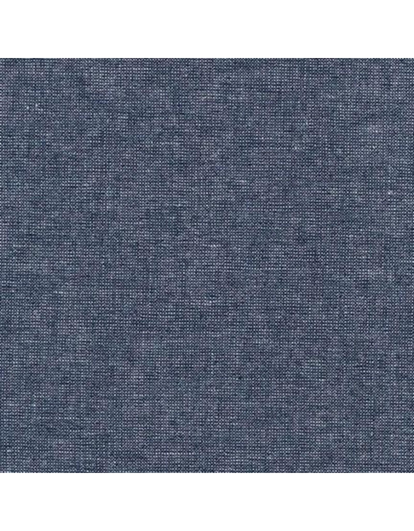Robert Kaufman Linen, Essex Yarn Dyed Metallic in Midnight, Fabric Half-Yards E105-1232