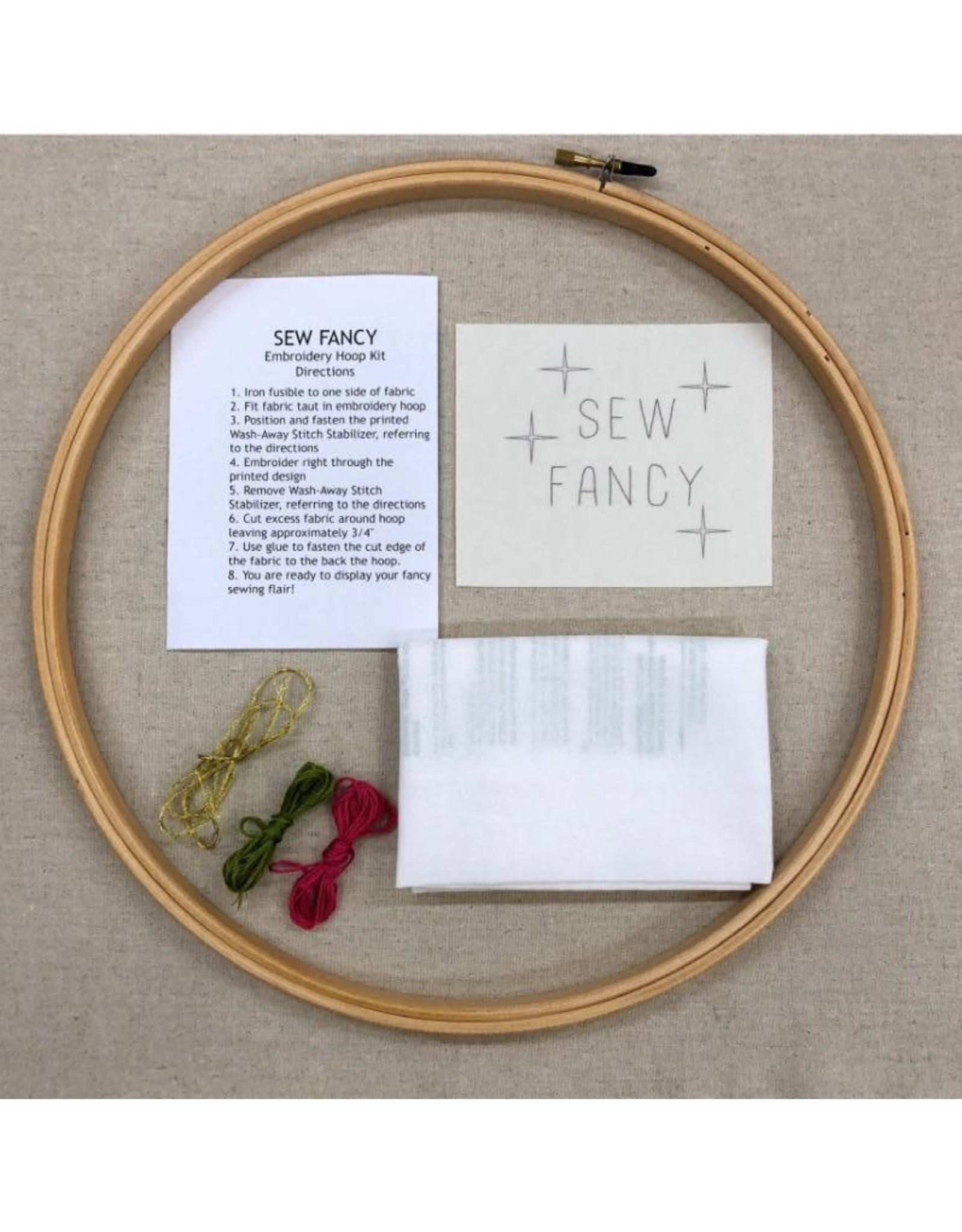 Picking Daisies SEW FANCY Embroidery Hoop Kit for Enamel Pin Display