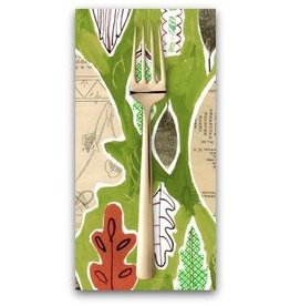 PD's August Wren Collection Spice Things Up, Leaf Collage in Multi, Dinner Napkin