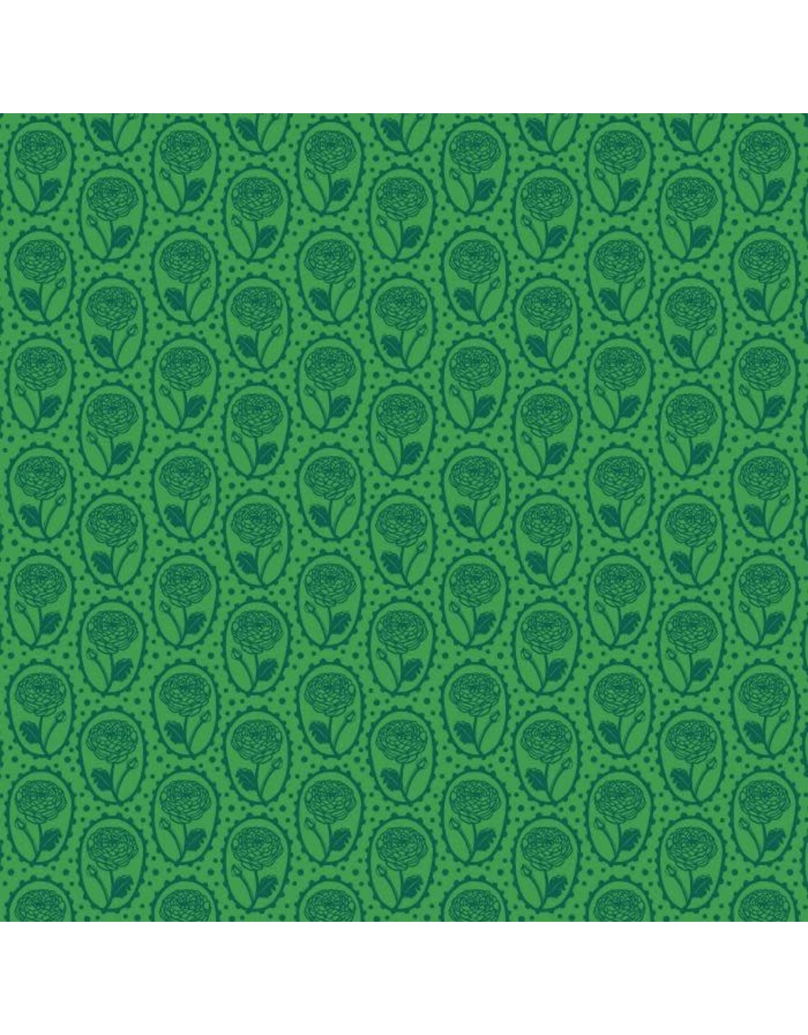 Anna Maria Horner ON SALE-Second Nature, Locket in Kelly, Fabric FULL-Yards
