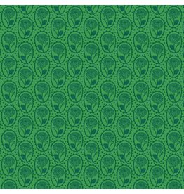 Anna Maria Horner ON SALE-Second Nature, Locket in Kelly, Fabric Half Yards
