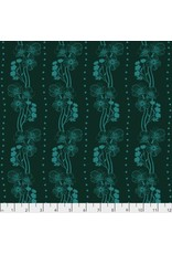 Anna Maria Horner ON SALE-Second Nature, Buttercups in Emerald, Fabric FULL-Yards