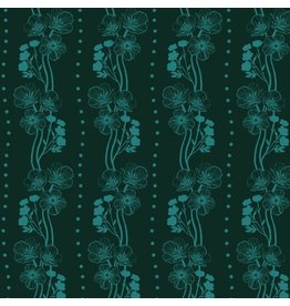 Anna Maria Horner Second Nature, Buttercups in Emerald, Fabric Half-Yards PWAM009