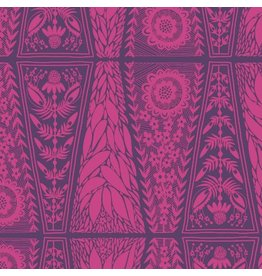 "Anna Maria Horner Second Nature, Dresden Lace in Fuchsia, Fabric Half-Yards PWAM008 (ONE 20"" CUT REMAINING)"