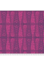 """Anna Maria Horner Second Nature, Dresden Lace in Fuchsia, Fabric Half-Yards PWAM008 (ONE 20"""" CUT REMAINING)"""