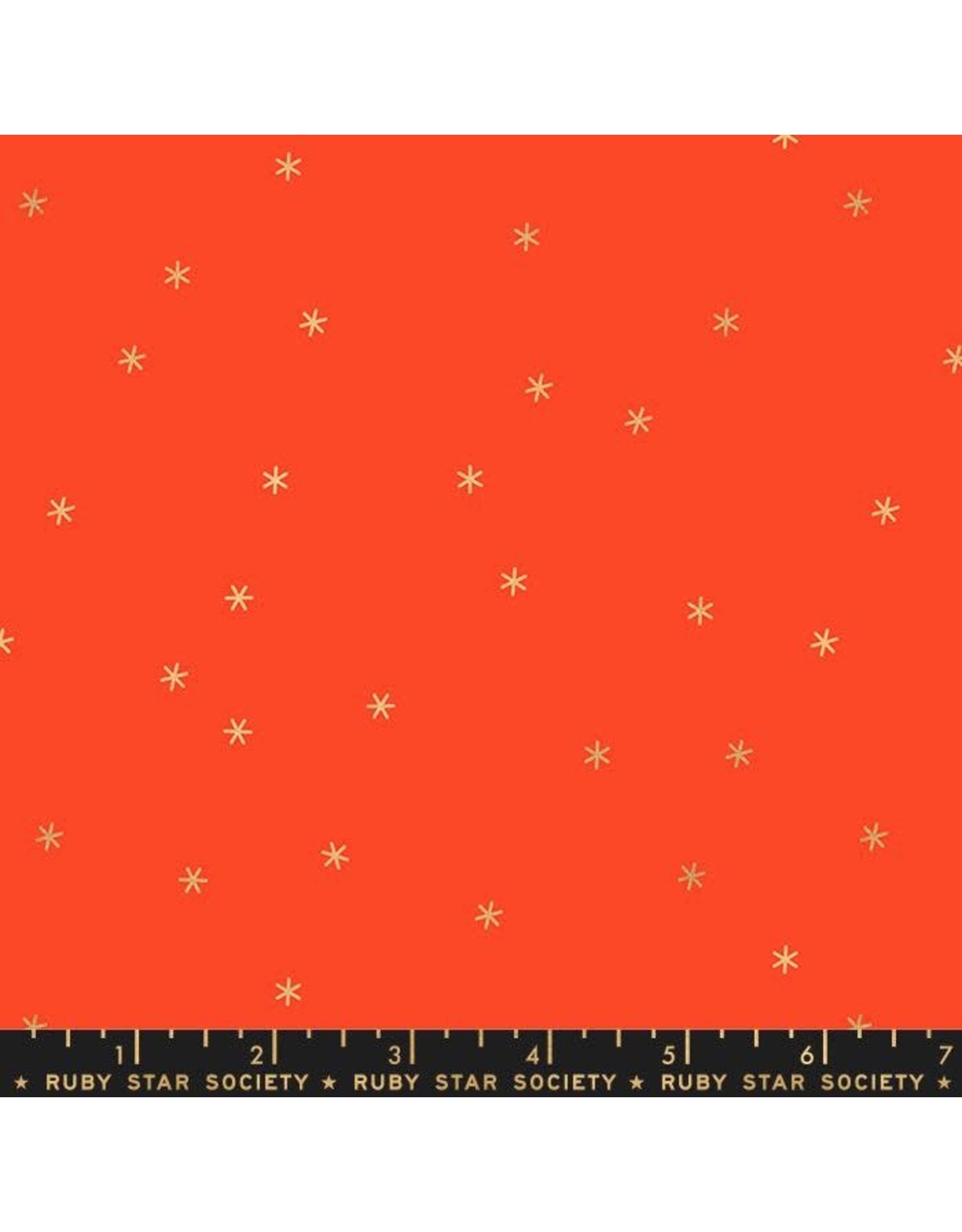 Melody Miller ON SALE-Ruby Star Society, Spark in Roadster Red with Gold Metallic, Fabric FULL-Yards
