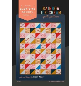 Ruby Star Society for Moda Rainbow Ice Cream Quilt Pattern