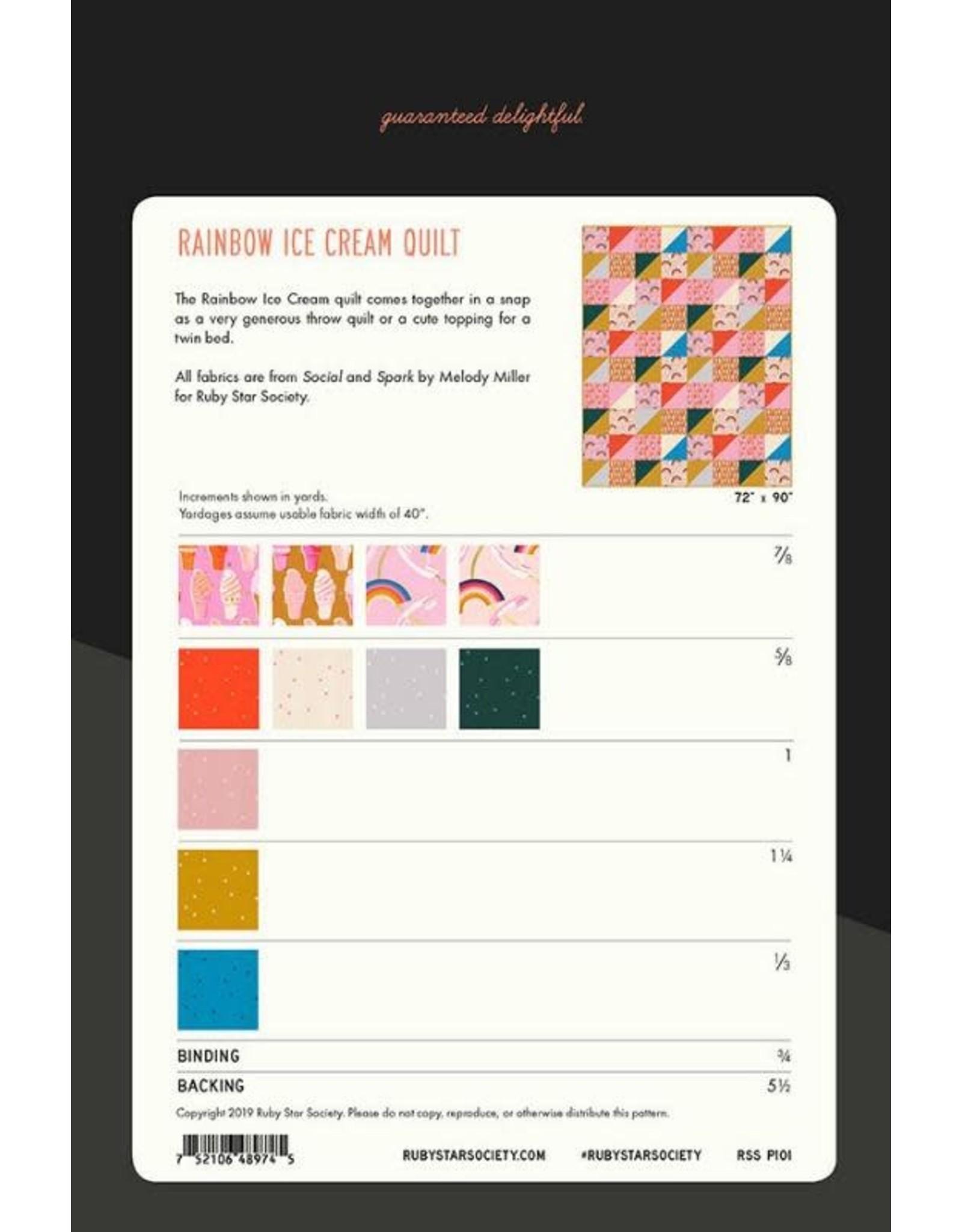 Ruby Star Society for Moda Ruby Star Society's Rainbow Ice Cream Quilt Pattern