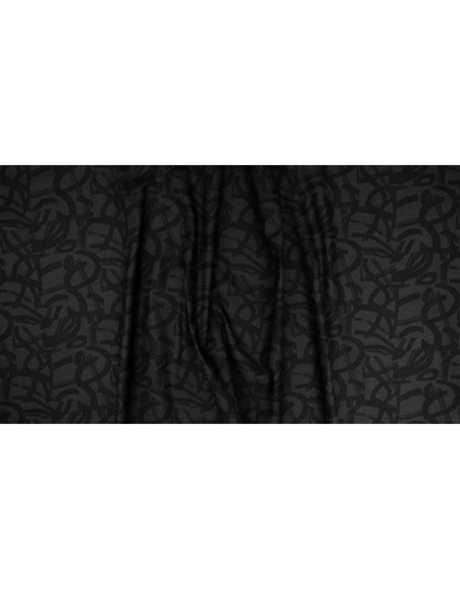 Cotton + Steel ON SALE-In Bloom, On the Way in Black, Fabric FULL-Yards