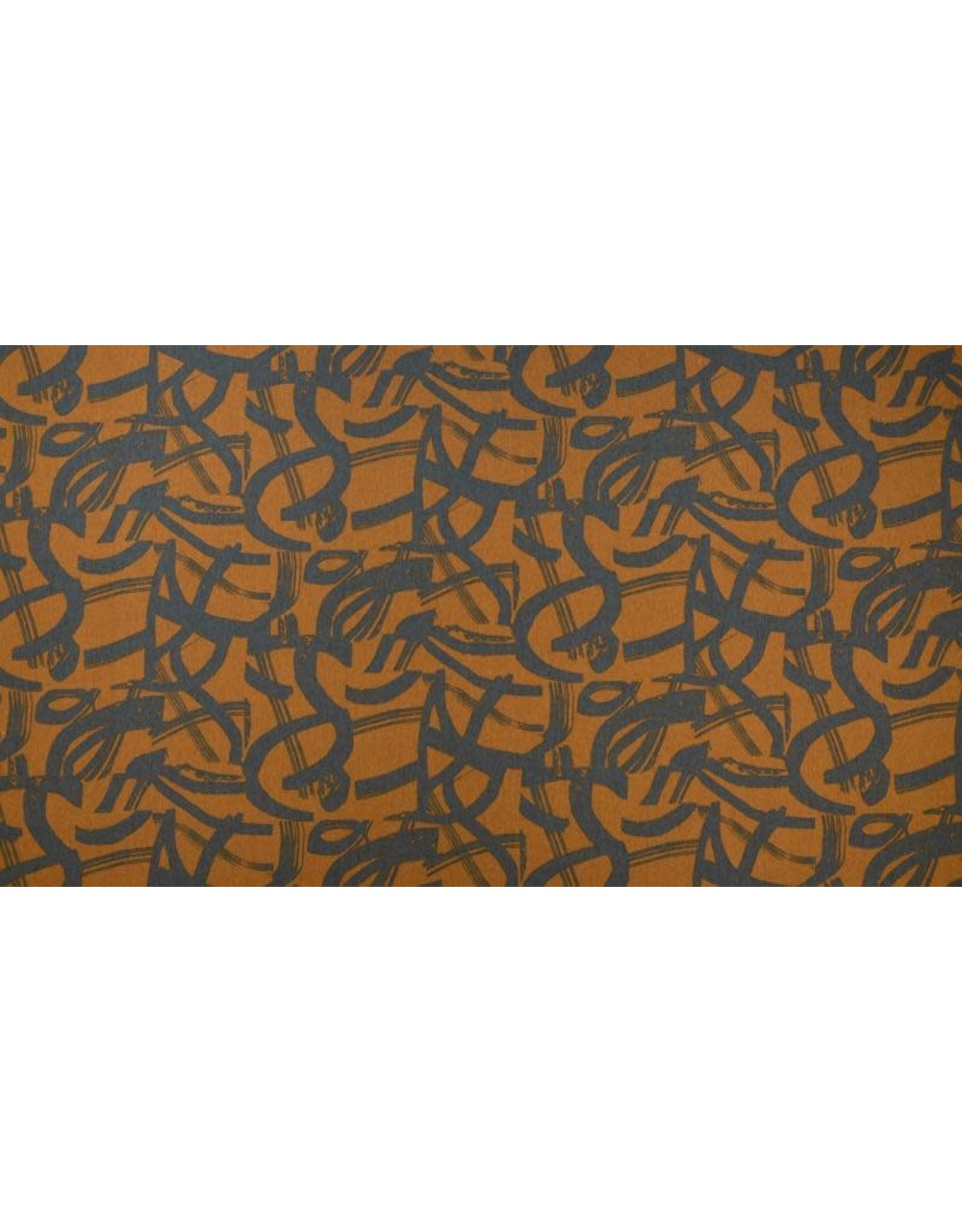Cotton + Steel Linen/Cotton Canvas, In Bloom, On the Way in Golden, Fabric Half-Yards ST105-GO5C