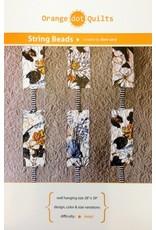 Orange Dot Quilts String Beads Quilt Pattern