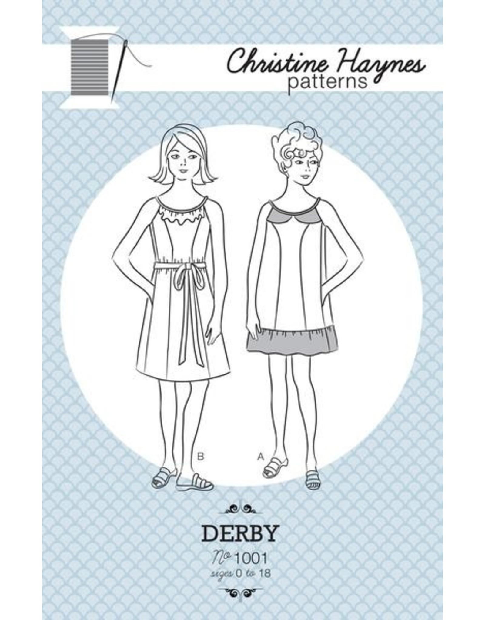 Christine Haynes Patterns ON SALE 50% OFF - Derby Pattern