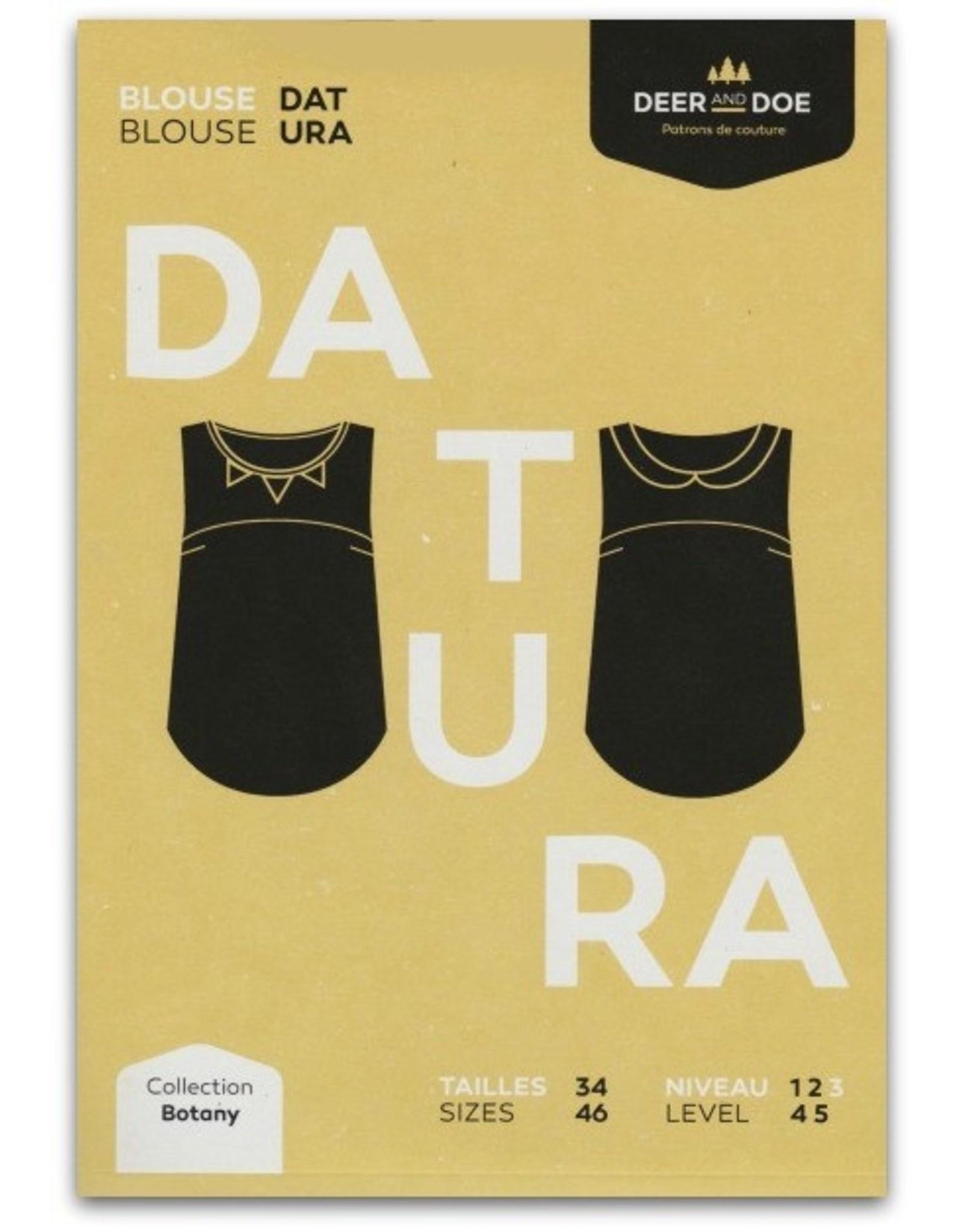 Deer and Doe Datura Top Pattern