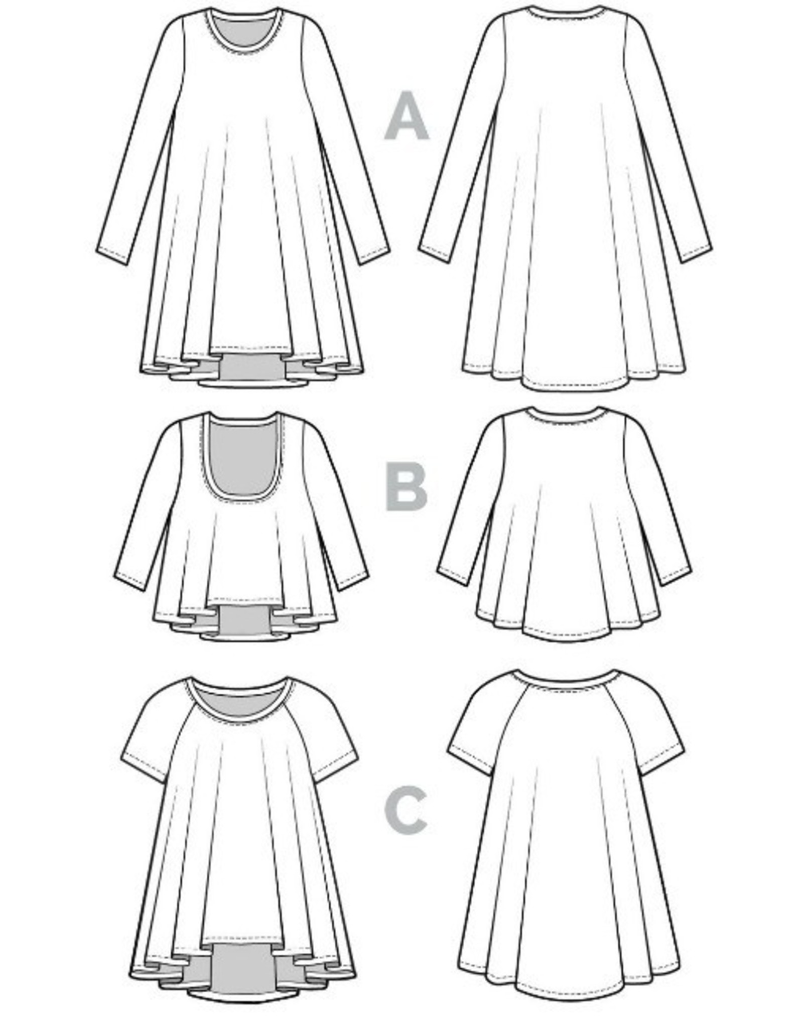 Closet Case Patterns Ebony T-Shirt & Knit Dress Pattern