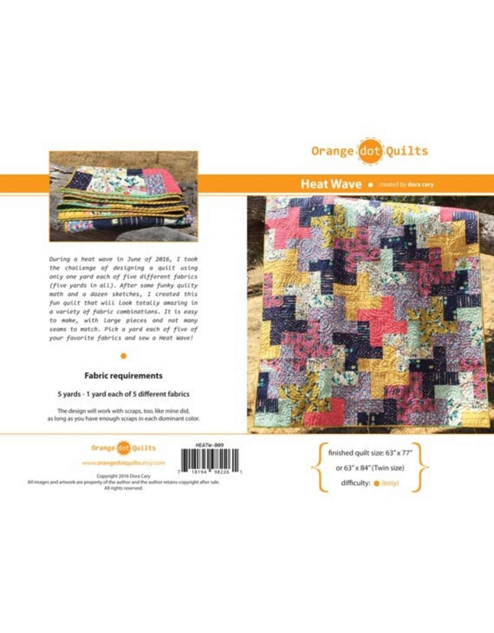 Orange Dot Quilts Heat Wave Quilt Pattern