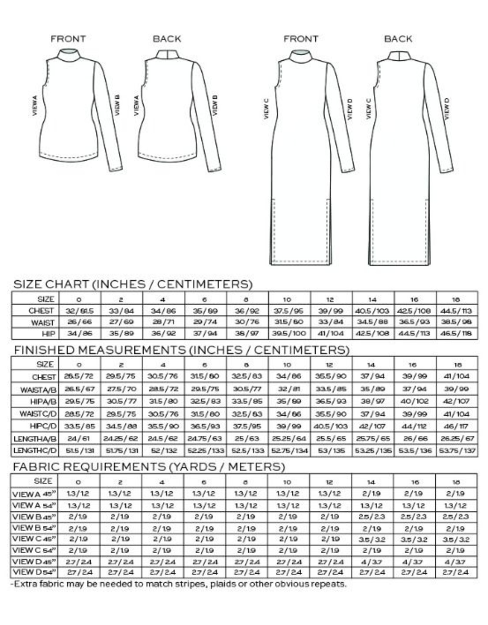 True Bias Nikko Top & Dress -  Pattern