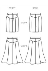 True Bias Salida Skirt -  Pattern