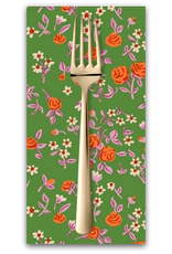 PD's Heather Ross Collection Trixie, Mousies Floral in Kelly, Dinner Napkin