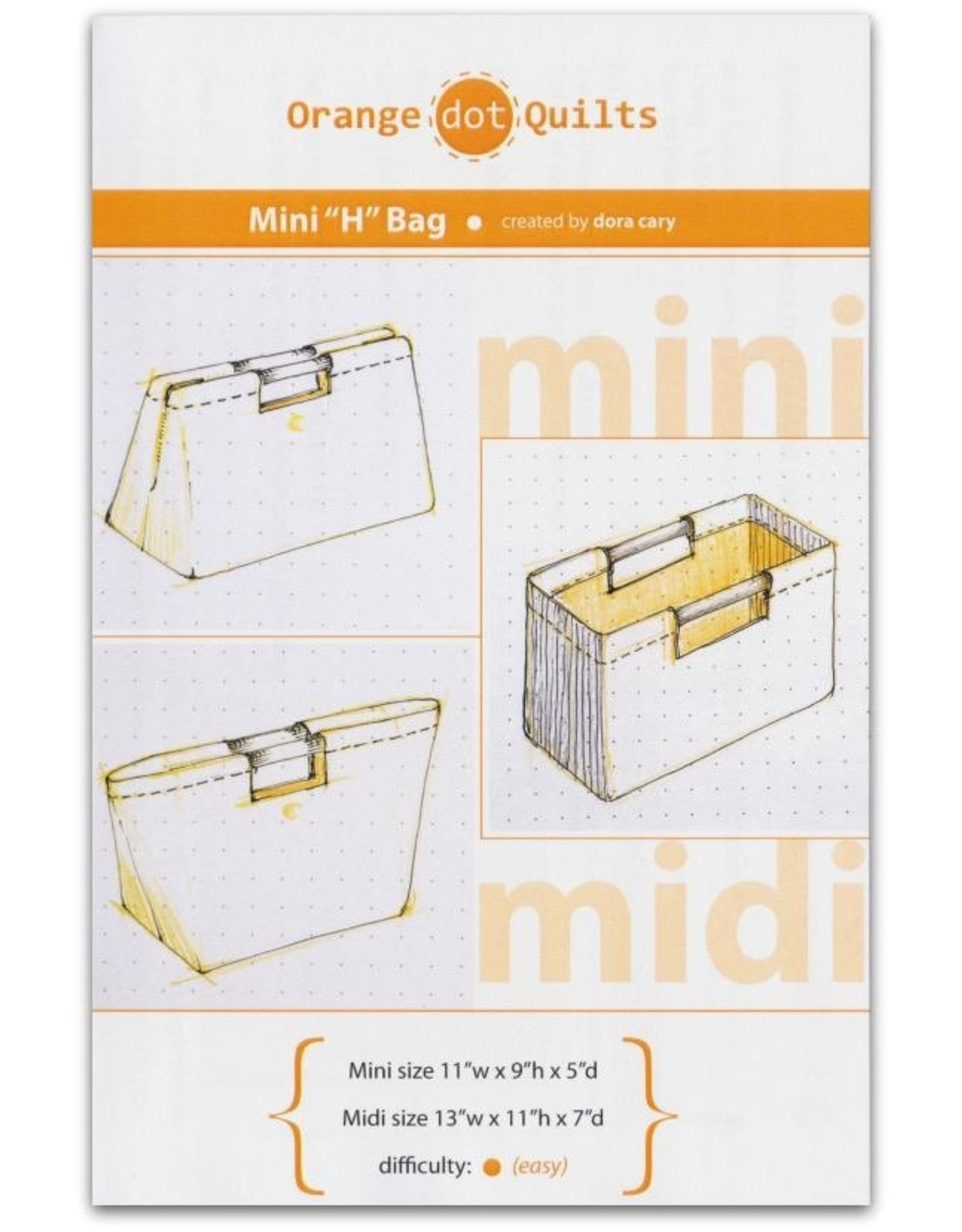 Orange Dot Quilts Mini H-Bag Pattern