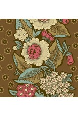 Andover Fabrics Chesapeake, Bouquet in Dark Khaki, Fabric Half-Yards A-9323-N