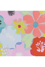 PD's Alexander Henry Collection Boardwalk, Blossom in Dove Grey, Dinner Napkin