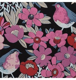 Alexander Henry Fabrics Birdland, Birds in Black, Fabric Half-Yards 8534B