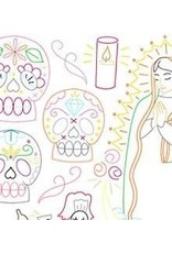 Sublime Stitching Embroidery Iron-On Transfers, Dia de los Muertos