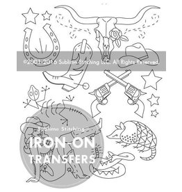 Sublime Stitching Embroidery Iron-On Transfers, Country Cool