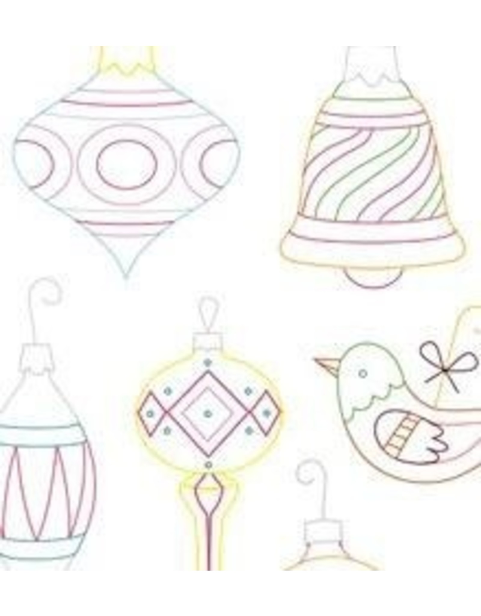 Sublime Stitching Embroidery Iron-On Transfers, Vintage Ornaments