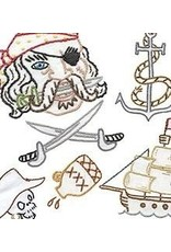 Sublime Stitching Embroidery Iron-On Transfers, Pirates Ahoy