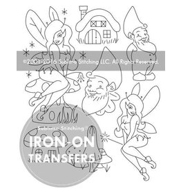 Sublime Stitching Embroidery Iron-On Transfers, Gnomes & Fairies