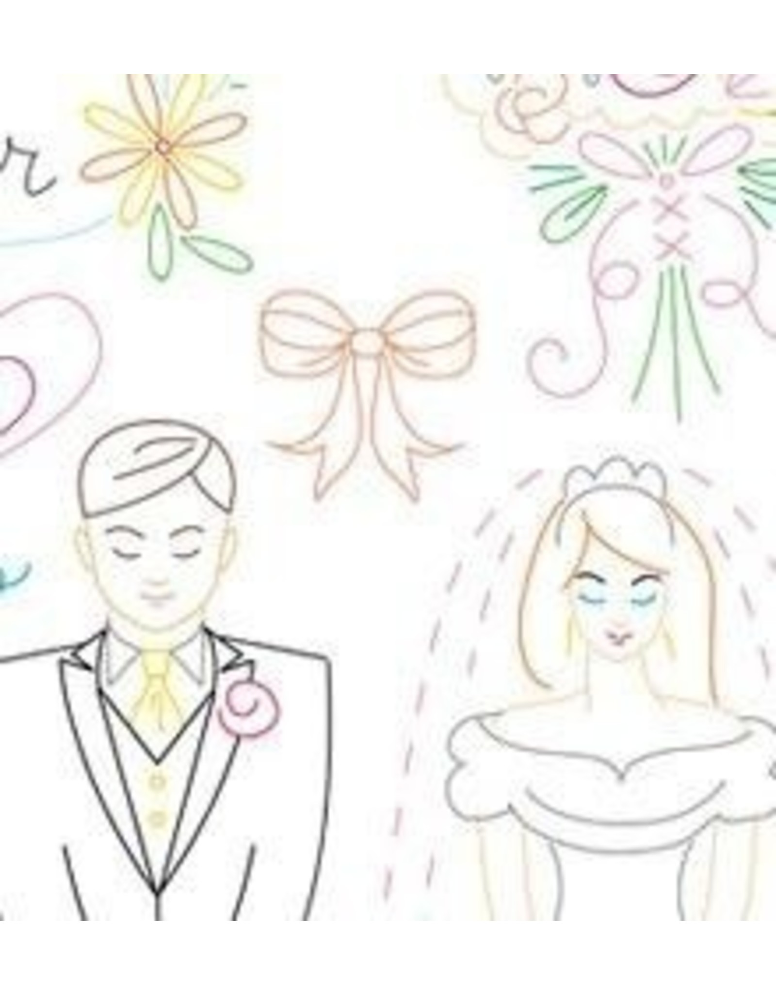 Sublime Stitching Embroidery Iron-On Transfers, Wedding Wishes