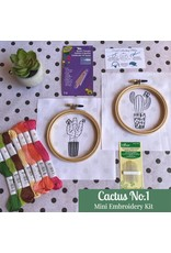 Picking Daisies Cactus No.1, Mini Embroidery Kit