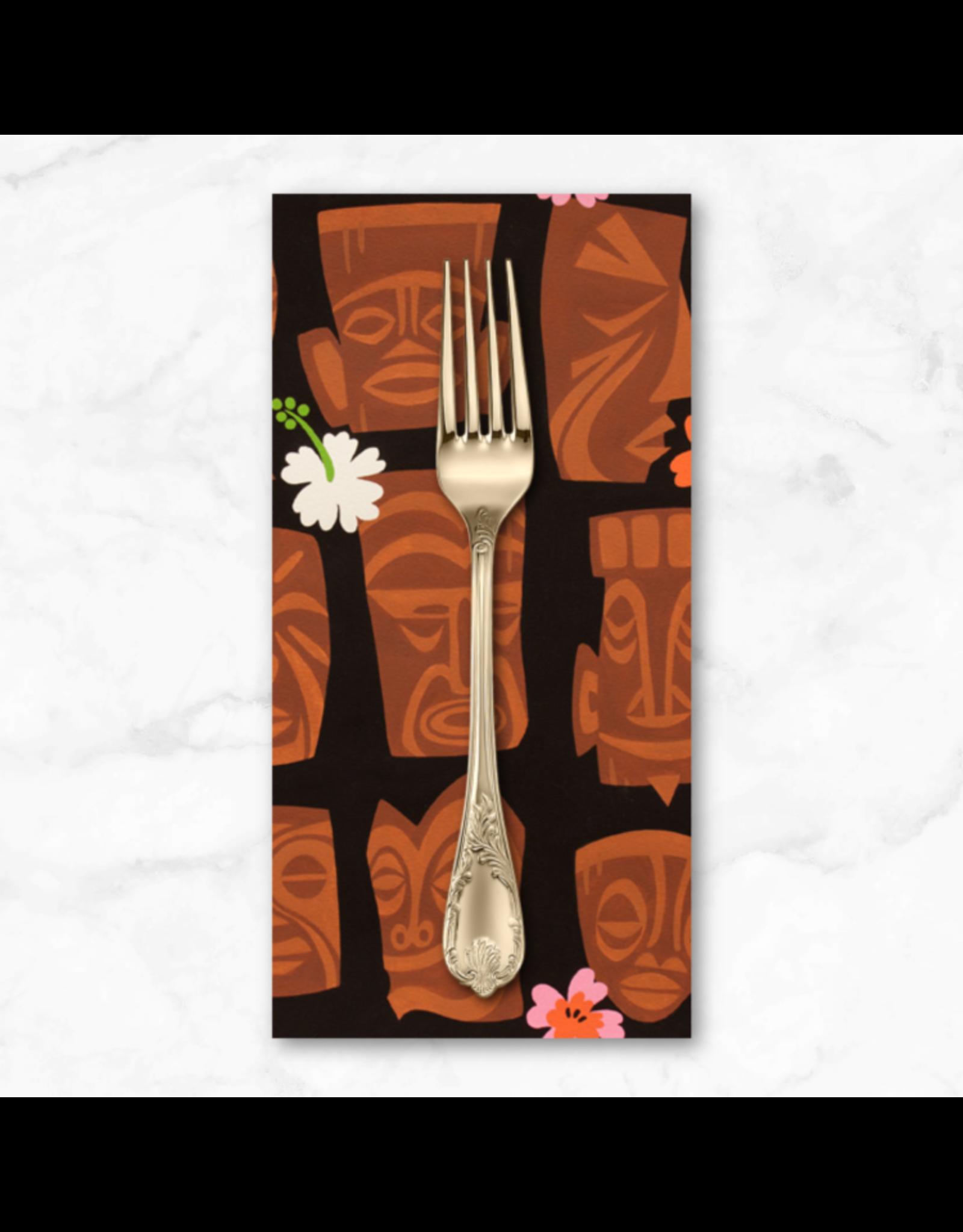 PD's Alexander Henry Collection Tiki Dreams, Tahiti Tiki in Black, Dinner Napkin