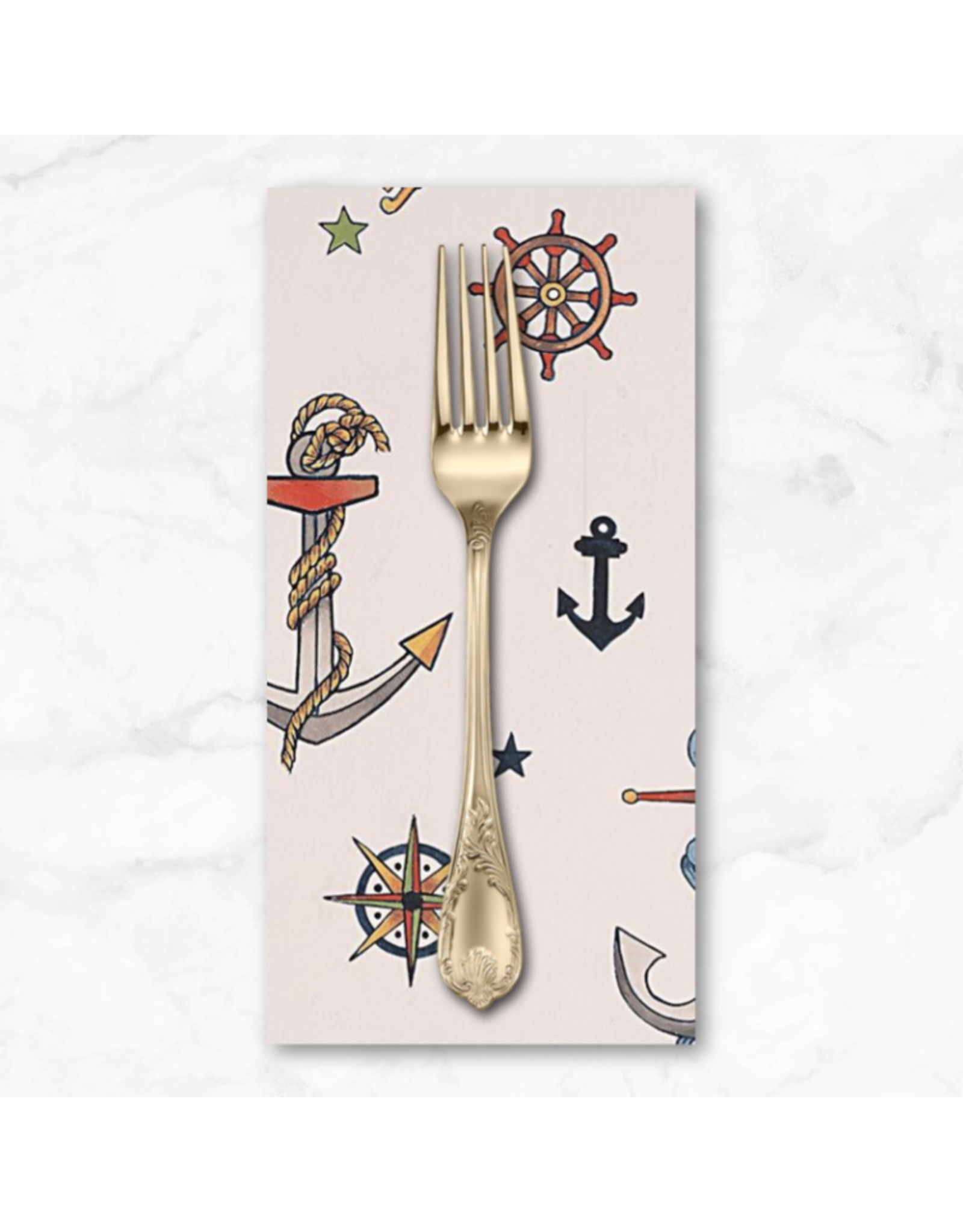 PD's Alexander Henry Collection Nicole's Prints, Rise and Shine, Anchored in Tea, Dinner Napkin
