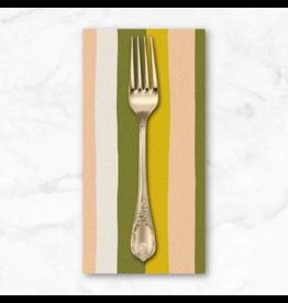 PD's Sarah Golden Collection Perennial, Stripes in Citrus, Dinner Napkin