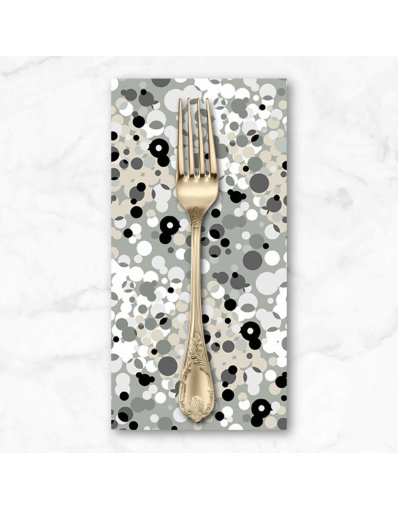 PD's Libs Elliott Collection Stealth, Fizzle in Pewter, Dinner Napkin