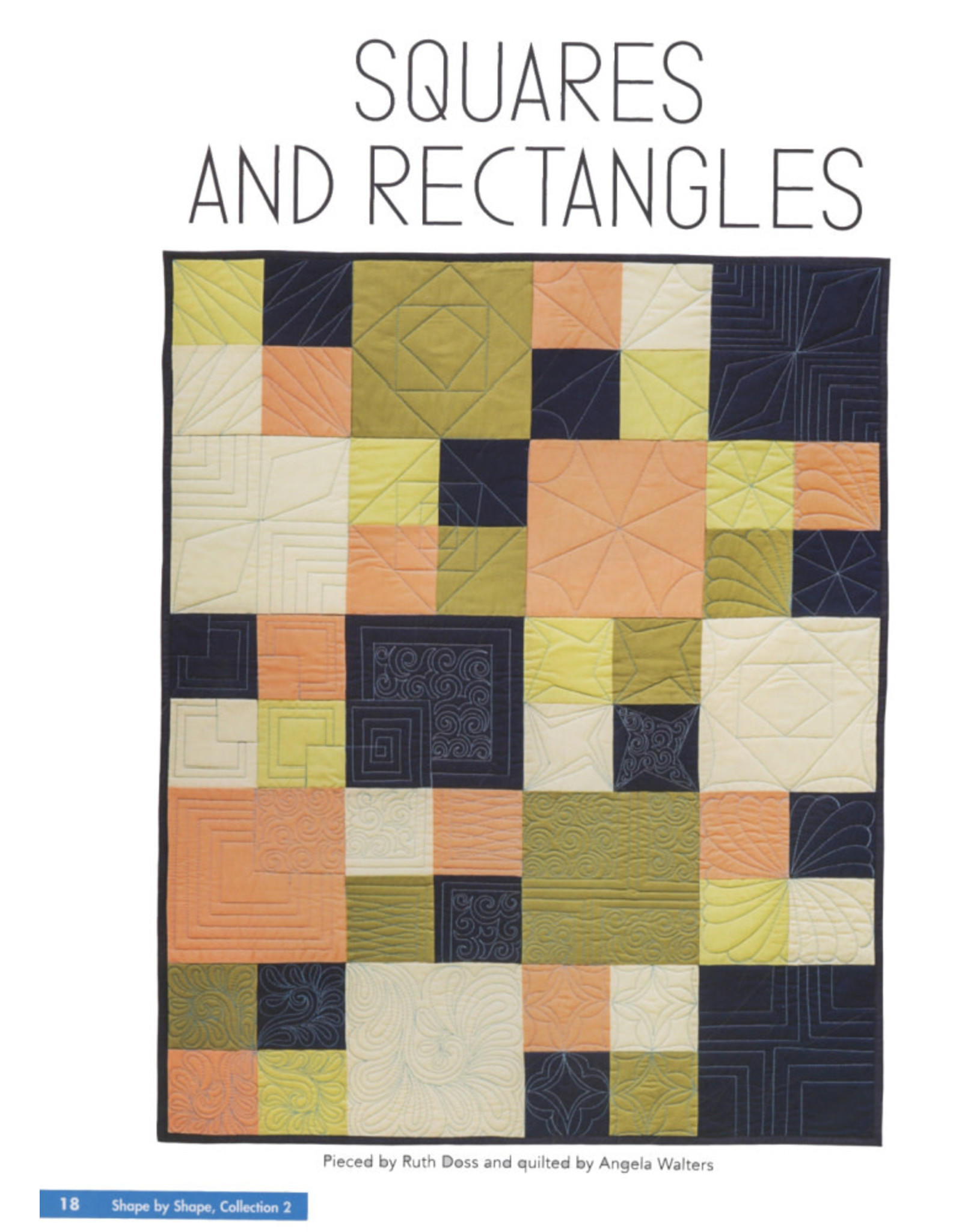 Angela Walters Shape by Shape Collection 2 - Free Motion Quilting with Angela Walters