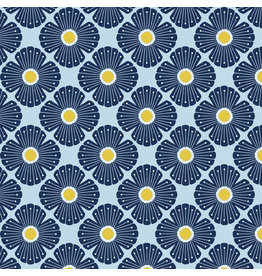 Cotton + Steel On a Spring Day, Blossom in Light Blue, Fabric Half-Yards