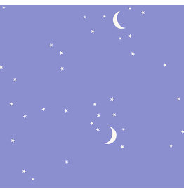 Andover Fabrics Moon and Stars in Periwinkle, Fabric Half-Yards