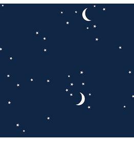 Andover Fabrics Moon and Stars in Navy, Fabric Half-Yards