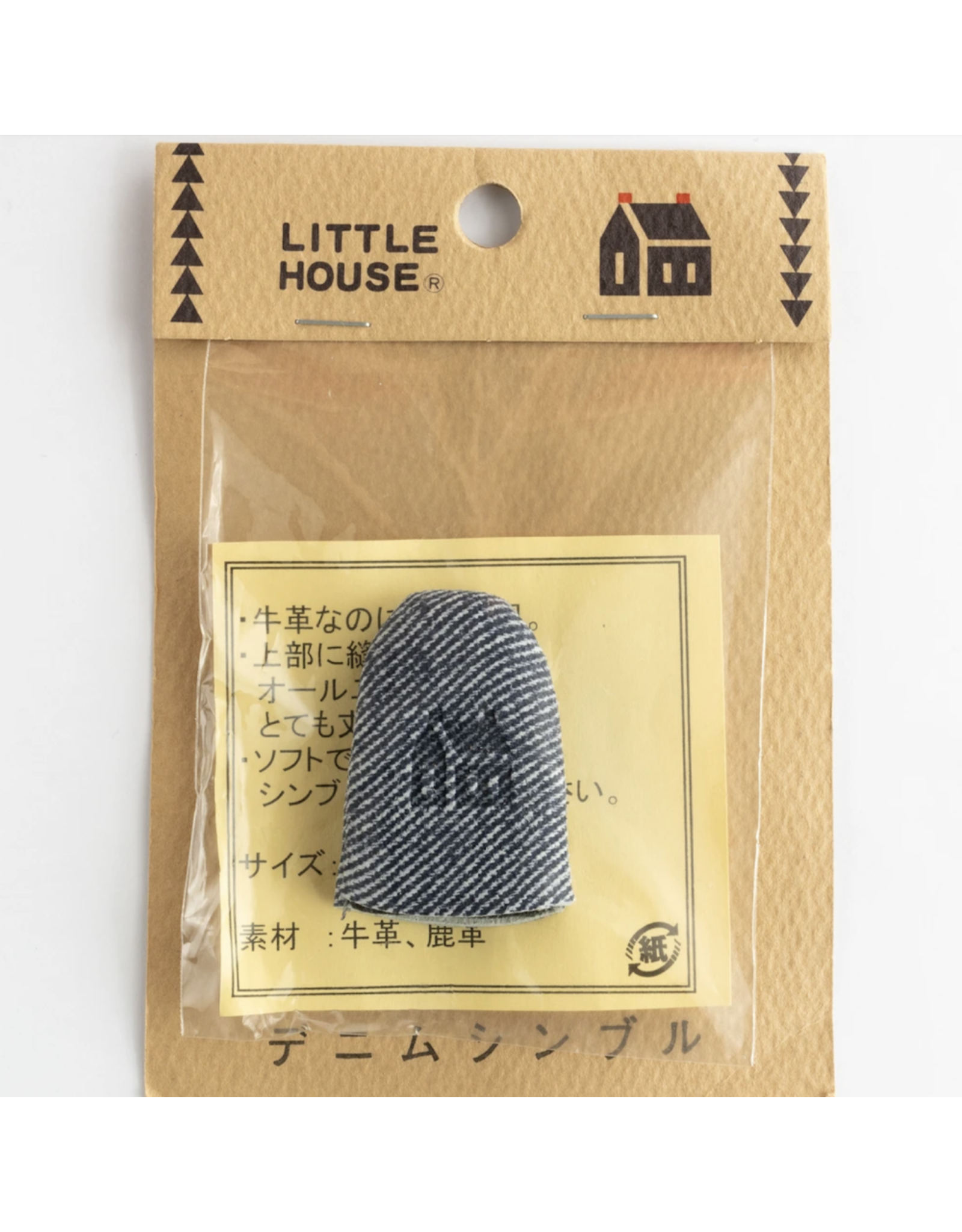 Little House Little House, Denim Thimble, Made of Leather, Size Large