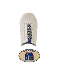 Little House Little House, Thimble, White Leather with Elastic - Size Large