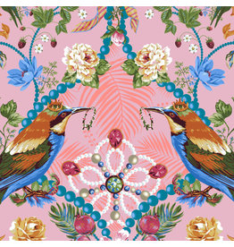 Odile Bailloeul Jardin de la Reine, The Queen's Jewels in Rose, Fabric Half-Yards