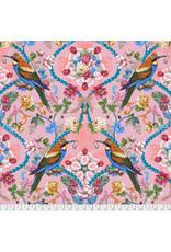 Odile Bailloeul Jardin de la Reine, The Queen's Jewels in Rose, Fabric Half-Yards